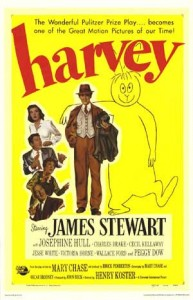 Poster for the 1950 film Harvey starring James Stewart.