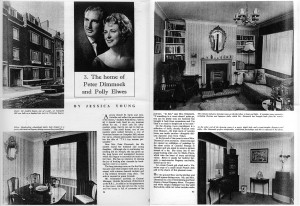 A scan of two pages from Homes and Gardens magazine published in 1962.