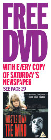 Newspaper advertisement for a free DVD